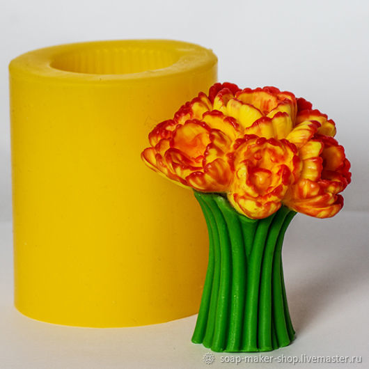Силиконовая форма для мыла «Тюльпаны 3D», Формы, Шахты, Фото №1