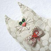 Куклы и игрушки ручной работы. Ярмарка Мастеров - ручная работа Подушка-игрушка Кот  Горошек. Handmade.