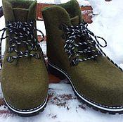 Обувь ручной работы. Ярмарка Мастеров - ручная работа Зимние валяные ботинки. Handmade.