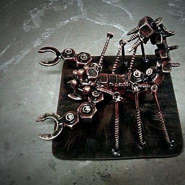 Подарки к праздникам ручной работы. Ярмарка Мастеров - ручная работа Скорпион металл. Handmade.
