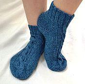 Аксессуары ручной работы. Ярмарка Мастеров - ручная работа Вязаные носки джинс, твидовые носки, шерстяные носки. Handmade.