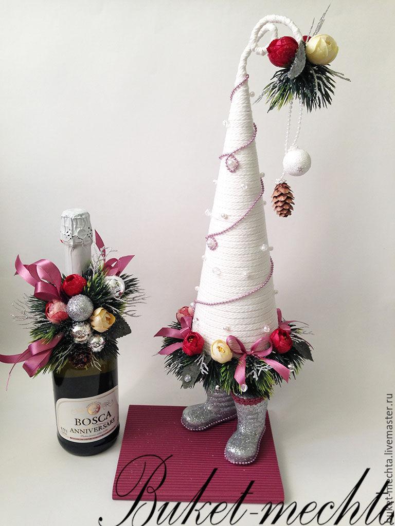 Набор новогодняя елочка на коробке конфет  и украшение, Елки, Москва,  Фото №1