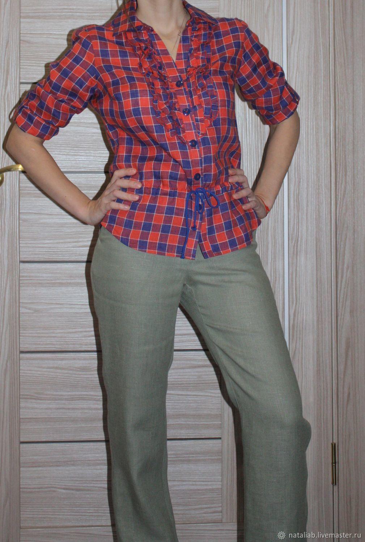 """Блузки ручной работы. Ярмарка Мастеров - ручная работа. Купить Льняная рубашка """"Design"""". Handmade. Офисный стиль, одежда для отдыха"""
