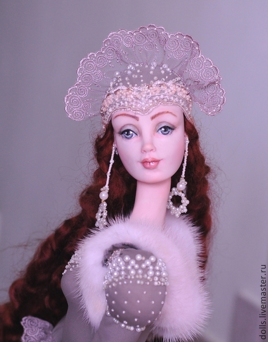 Коллекционные куклы ручной работы. Ярмарка Мастеров - ручная работа. Купить Ярослава. Handmade. Бежевый, подарок, бусы