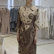Одежда handmade. Livemaster - original item Dress pavlopoulou a scarf, dress in the Russian style. Handmade.