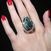 Украшения handmade. Livemaster - original item Adaya ring with malachite in 925 sterling silver HH0015-3. Handmade.
