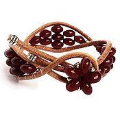 Украшения ручной работы. Ярмарка Мастеров - ручная работа Плетеный бордовый браслет. Handmade.