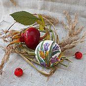 Брошь-булавка ручной работы. Ярмарка Мастеров - ручная работа Брошь из шелка Дуновение весны. Handmade.