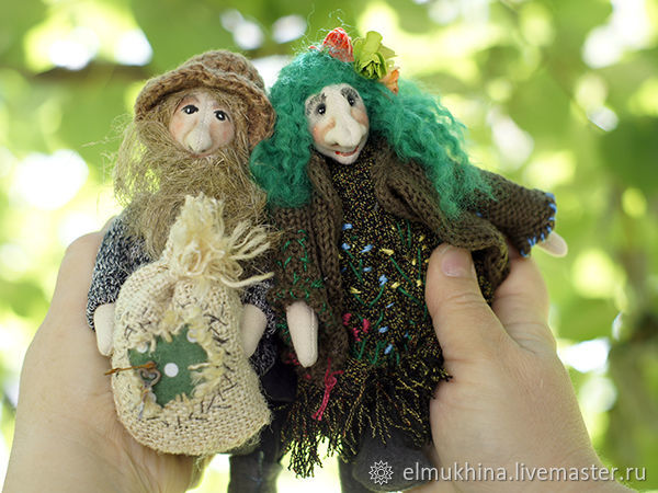 Domovoi and Kikimora. cheap gift. buy cheap. a gift to a friend. the housewarming gift. fright. the house as a gift. talisman for the home. for home interior. a Russian fairy tale. fairy-tale characte