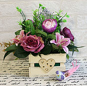 Цветы и флористика handmade. Livemaster - original item Interior arrangement Thyme and fuchsia. Handmade.