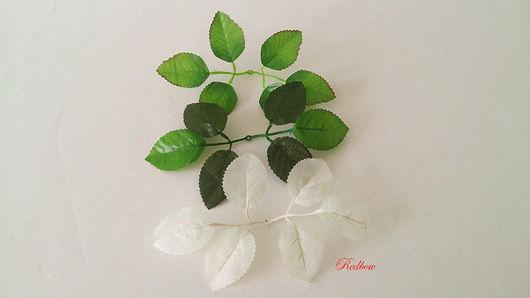 Материалы для флористики ручной работы. Ярмарка Мастеров - ручная работа. Купить Листья розы. Handmade. Для флористики, листья розы