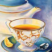 Картины и панно ручной работы. Ярмарка Мастеров - ручная работа Чайный натюрморт. Handmade.