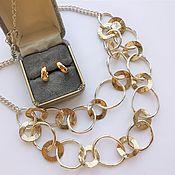 Винтаж handmade. Livemaster - original item Vintage jewelry sets: Trifari Clips and Necklace chain. Handmade.