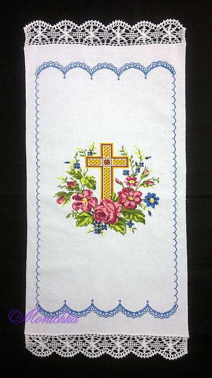 Вышитый пасхальный рушник - неотъемлемый атрибут праздничного стола в светлый праздник Пасхи!