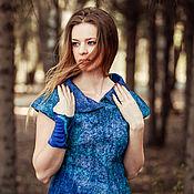 """Одежда ручной работы. Ярмарка Мастеров - ручная работа Валяное платье """"Айсберг"""". Handmade."""