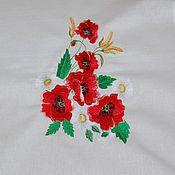 Русский стиль handmade. Livemaster - original item Towel embroidered linen