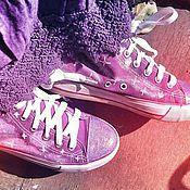 """Обувь ручной работы. Ярмарка Мастеров - ручная работа Кеды """"Туманный космос"""". Handmade."""