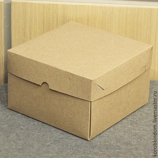 Упаковка ручной работы. Ярмарка Мастеров - ручная работа. Купить Коробочка 16х16х10 см крафт крышка-дно. Handmade. Коробочка