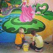Для дома и интерьера ручной работы. Ярмарка Мастеров - ручная работа Роспись детской комнаты (Живопись). Handmade.