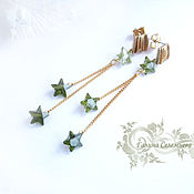 Украшения handmade. Livemaster - original item Earrings gold plated with zircons