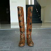 High Boots handmade. Livemaster - original item Boots-boots made of genuine Python leather. Handmade.