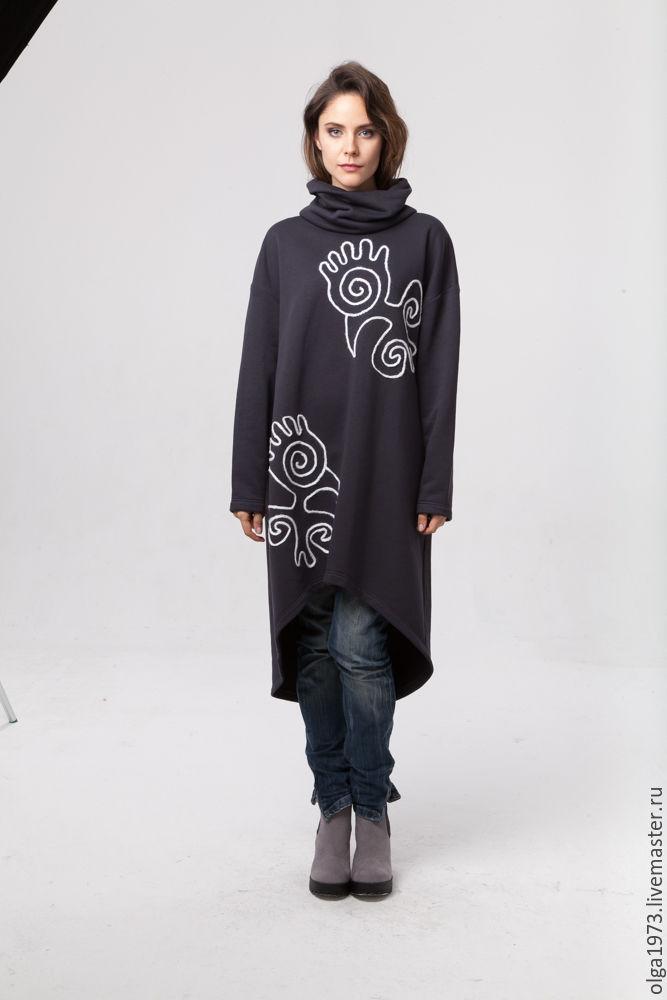 Туника платье теплое