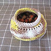 Для дома и интерьера ручной работы. Ярмарка Мастеров - ручная работа Орешница корзинка вязаная крючком. Handmade.
