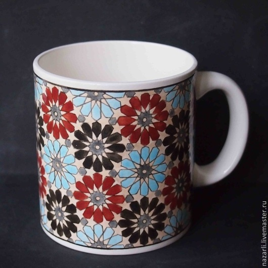 Декоративная посуда ручной работы. Ярмарка Мастеров - ручная работа. Купить Чашка Геометрия 0,5 литра. Handmade.