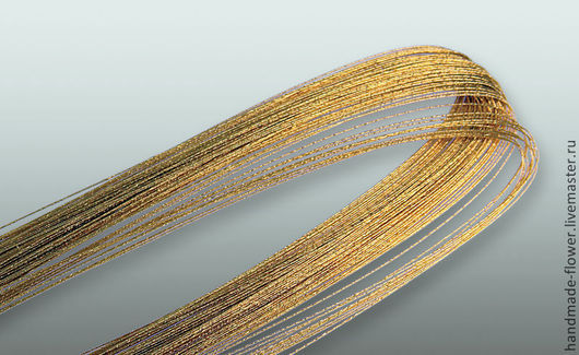 Проволока № 28 (72 см), Цвет Золото , в пачке 100 шт.  Производство Япония
