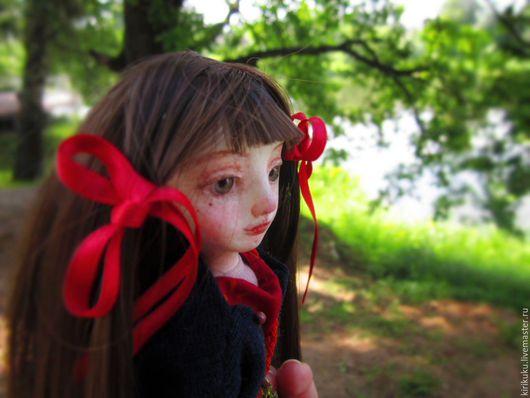 Коллекционные куклы ручной работы. Ярмарка Мастеров - ручная работа. Купить Весенняя прогулка.... Handmade. Ярко-красный, Будуарная кукла