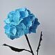 Цветы ручной работы. Ярмарка Мастеров - ручная работа. Купить Ветка голубой гортензии. Handmade. Голубой, цветы ручной работы
