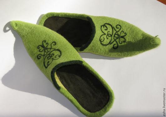 """Обувь ручной работы. Ярмарка Мастеров - ручная работа. Купить Валяные мужские тапочки """"Султан"""". Handmade. Валяные тапочки, тапочки"""