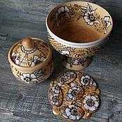 Для дома и интерьера handmade. Livemaster - original item Candy bowl and sugar bowl made of Linden. Handmade.