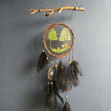 """Феншуй ручной работы. Ярмарка Мастеров - ручная работа Ловец снов """"Ночь в лесу"""". Handmade."""
