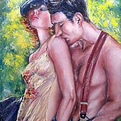 Pictures handmade. Livemaster - original item Sensual oil painting on canvas The Hot Noon in Paris. Handmade.