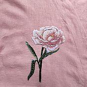 Украшения handmade. Livemaster - original item Embroidery Peony brooch embroidery on clothes embroidery on tulle. Handmade.