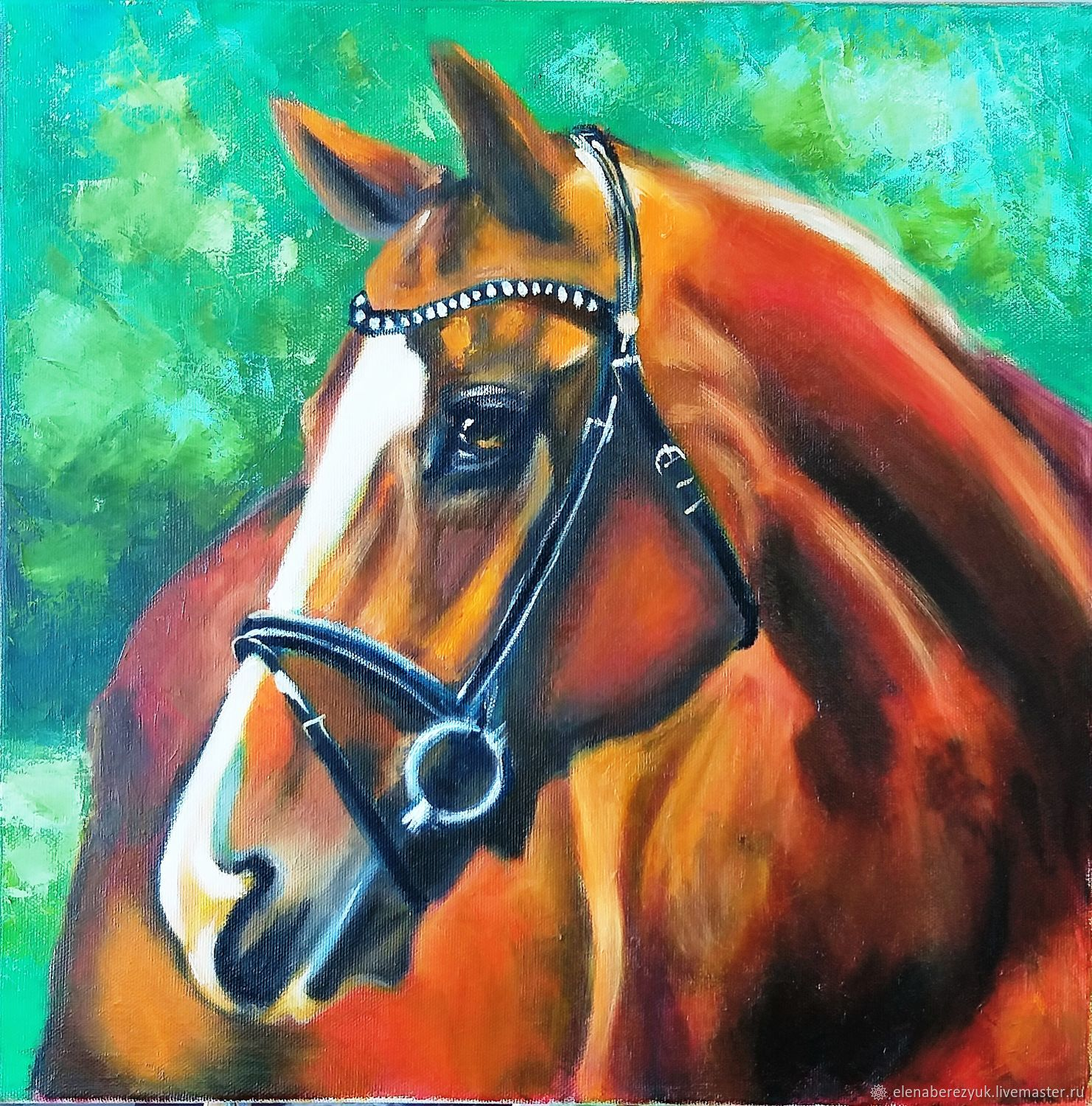 Oil painting on canvas Horse, Pictures, Petrozavodsk,  Фото №1