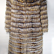 Одежда ручной работы. Ярмарка Мастеров - ручная работа Пальто из лисы двухцветное. Handmade.