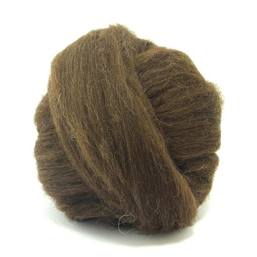 Валяние ручной работы. Ярмарка Мастеров - ручная работа. Купить Меринос 24 мк. неокрашенная шерсть в ленте, Англия - коричневый. Handmade.