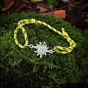 handmade. Livemaster - original item Edelweiss, silver bracelet. Handmade.