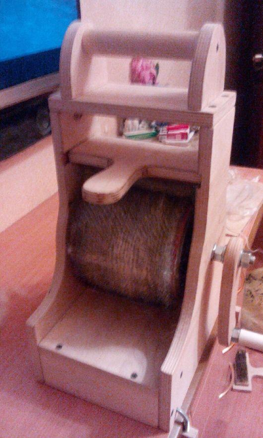Текстиль, ковры ручной работы. Ярмарка Мастеров - ручная работа. Купить Кардер- барабан. Handmade. Натуральные материалы, вязание на заказ