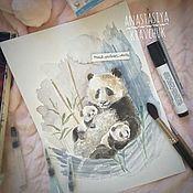 Картины и панно ручной работы. Ярмарка Мастеров - ручная работа Иллюстрации с животными. Картина акварель. Handmade.
