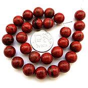 Материалы для творчества ручной работы. Ярмарка Мастеров - ручная работа Яшма красная 28 камней набор бусины шар гладкий 10 мм. Handmade.