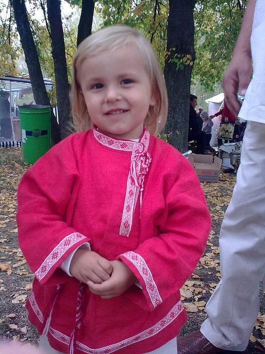 Этническая одежда ручной работы. Ярмарка Мастеров - ручная работа. Купить Русский костюм для мальчика. Handmade. Ярко-красный, рубашка