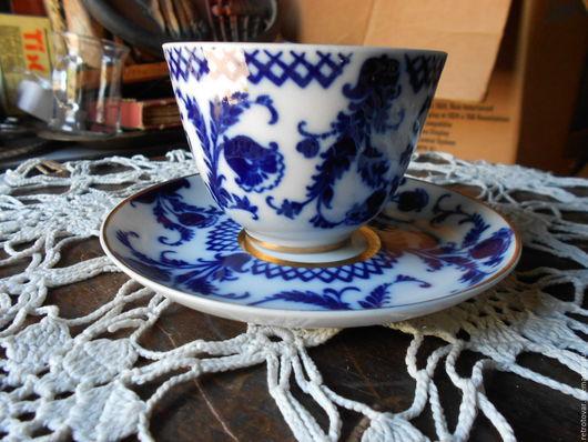 Винтажная посуда. Ярмарка Мастеров - ручная работа. Купить Чайные пары ЛФЗ, разные. Handmade. Синий, сервиз
