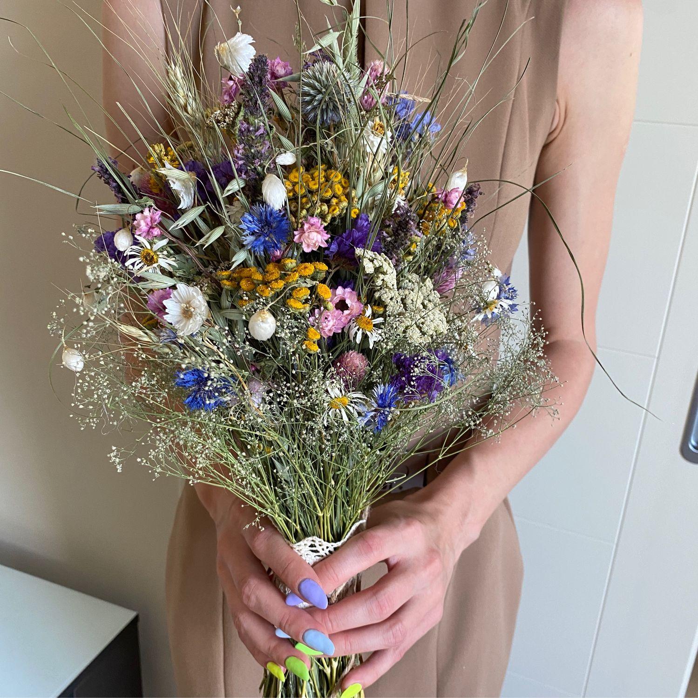 Букет из сухоцветов « Цветочный блюз», Букеты, Москва,  Фото №1