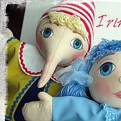 Куклы и игрушки ручной работы. Ярмарка Мастеров - ручная работа Буратино и Мальвина. Handmade.