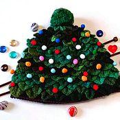 Аксессуары handmade. Livemaster - original item Hat tree funny Christmas hat. Handmade.