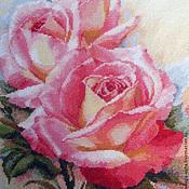 """Картины и панно ручной работы. Ярмарка Мастеров - ручная работа Вышитая картина розы  """"Розовые мечты"""". Handmade."""