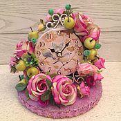"""Для дома и интерьера ручной работы. Ярмарка Мастеров - ручная работа Часы с цветами""""Райский сад"""". Handmade."""
